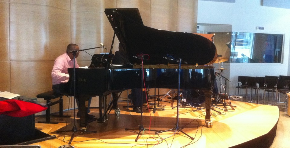 recording Chuchito Valdes at the Greene Space for PianoCulture