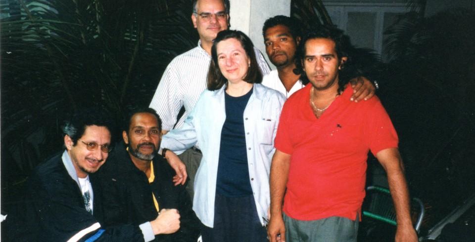 Alfredo Cruz with Becca Pulliam and the Havana Jazz Fest Crew for JazzSet